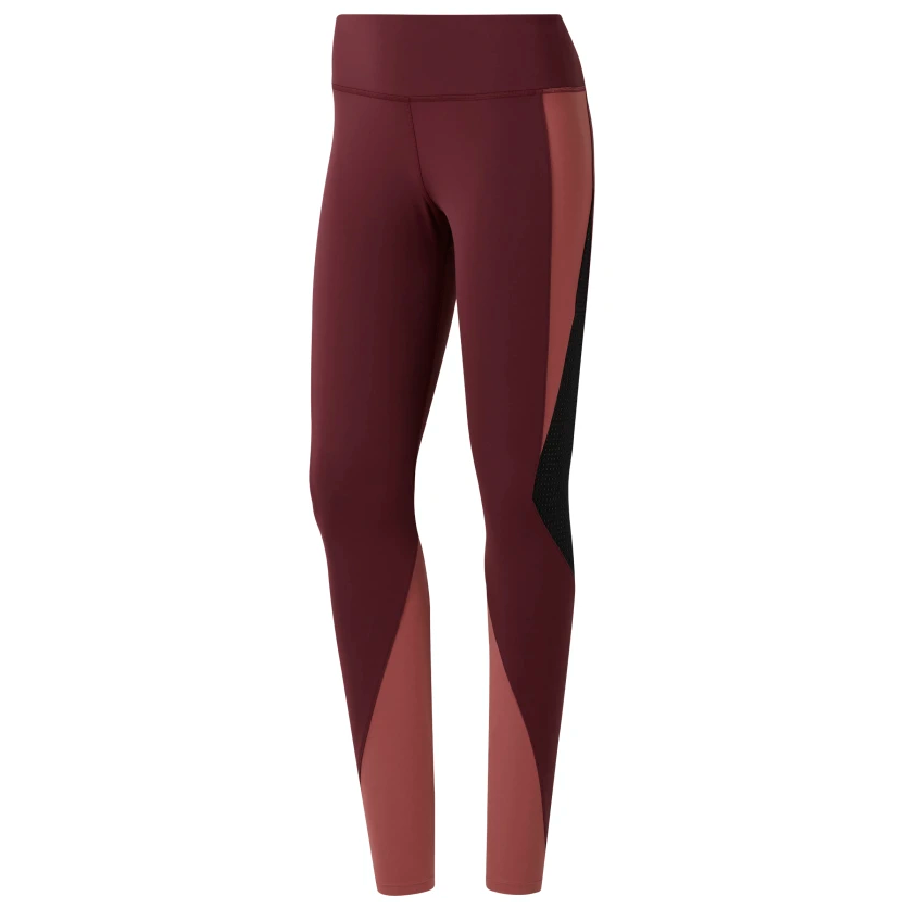 Lux Colorblocked Tights 2.0 Dame - Rød