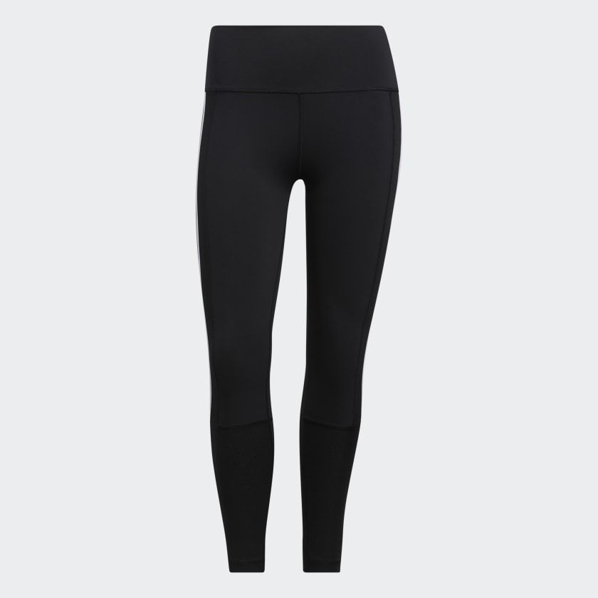 Believe This 2.0 3-Stripes Ribbed 7/8 Tights Dame