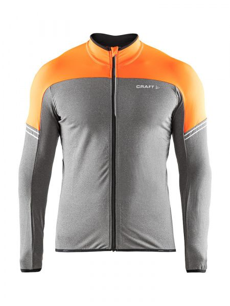 Velo Thermal Jersey M - Flourange / Dark Grey Mela