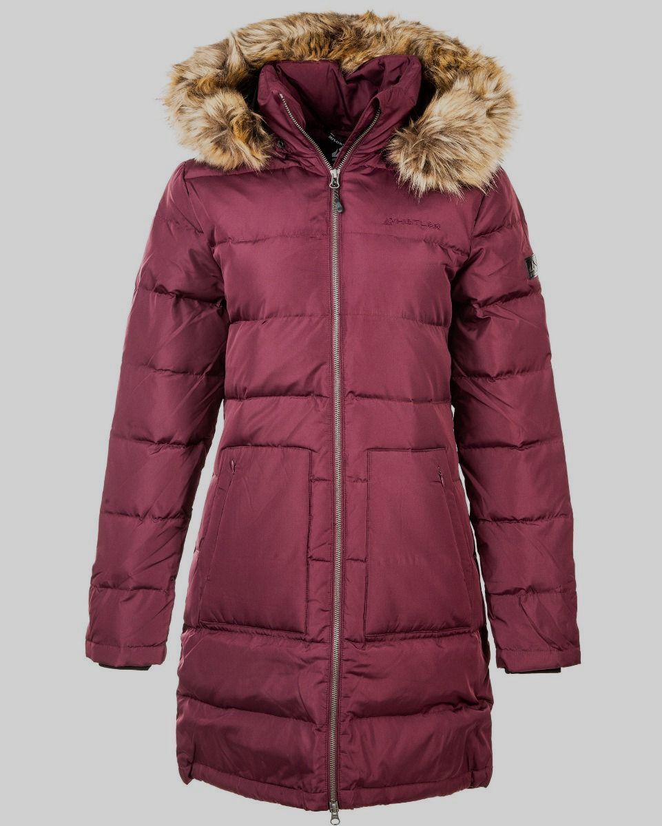Paranaque Long Down Parka Jakke Dame - Lilla