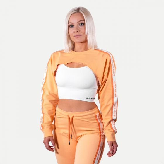 Chrystie Crop Genser Dame - Orange