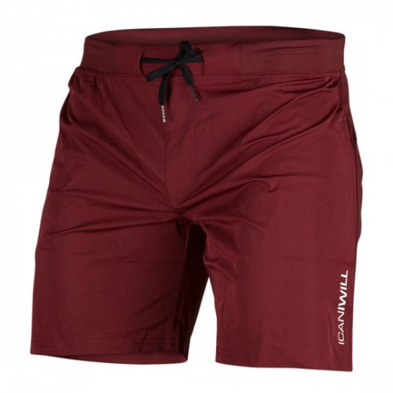 Perform Short Shorts Men - Burgundy
