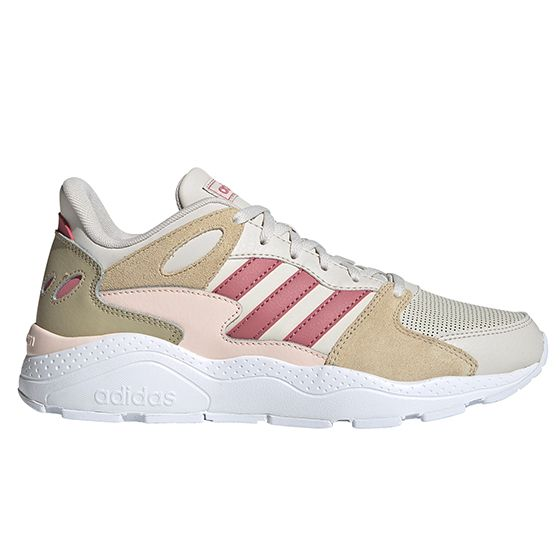 Crazy Chaos Sneakers Dame - Beige / Rosa