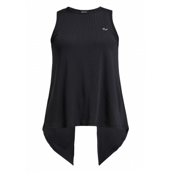 Logo Ribbed  Singlet Dame - Sort