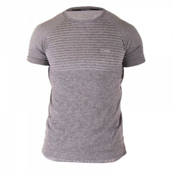 Seamless T-shirt herre - Grey / White