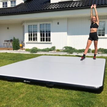 AirTrack Plus 3 x 3 m Treningsmatte - Grå / Sort