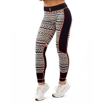 Aztec Wool Pant - Black / White / Orange