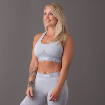 Seamless Sport Bra - Light Grey