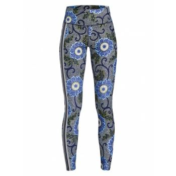 Floral Tights - Blue Maasai Flower