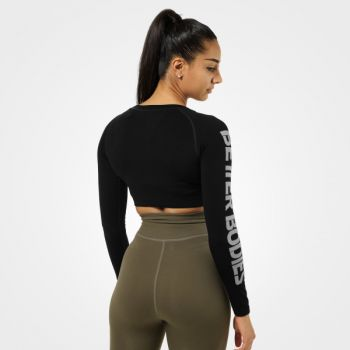 Bowery Cropped Genser Dame - Sort