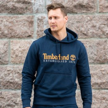 Core Established Hoodie Genser Herre - Blå