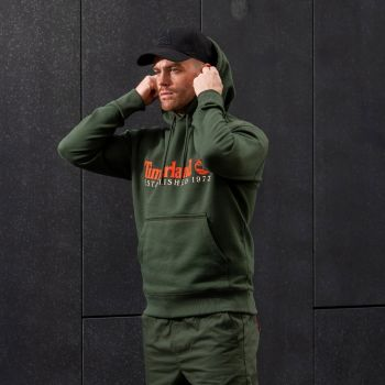 Core Established Hoodie Genser Herre - Grønn