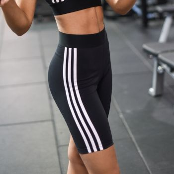 Must Haves 3-Stripes Cotton Shorts Dame - Sort