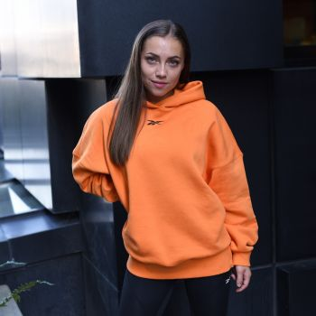 SR Oversized Genser Dame - Orange