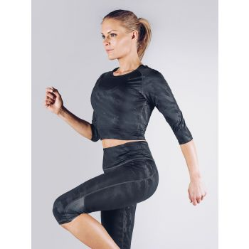 Elevate Crop 3/4 Sleeve - Sort