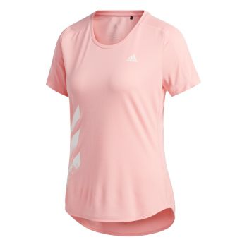 Run It 3-Stripes T-skjorte Dame - Rosa