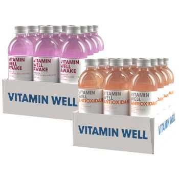 Pakke - Vitamin Well 0,5l x 24 (2 brett)