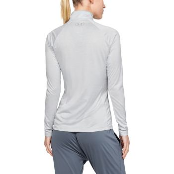 Tech Half Zip Twist Genser Dame - Grå