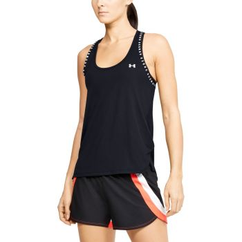 UA Knockout Singlet Dame - Sort