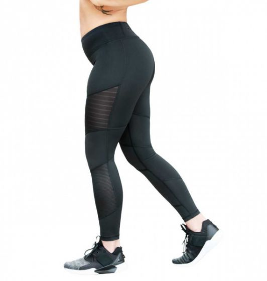 Dance Mesh Tights - Black