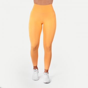 High Waist Tights Dame - Orange