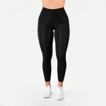 High Waist Tights Dame - Sort