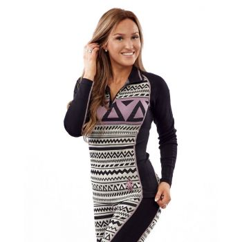 Aztec Longsleeve - Black/ White/Purple