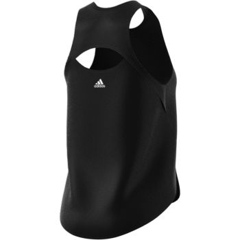 3 Bar Logo Singlet Dame - Sort